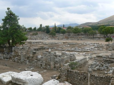 Panorama of part of Corinth