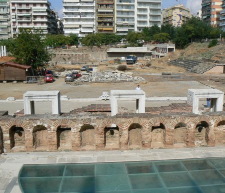 View from the back of the Thessalonica odeum